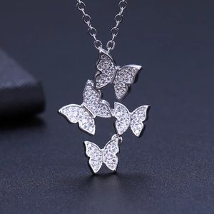 Sterling Silver 925 Butterfly 🦋 Necklace